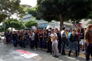 manifestación de estudiantes contra la LOMCE. Santa Cruz de Tenerife