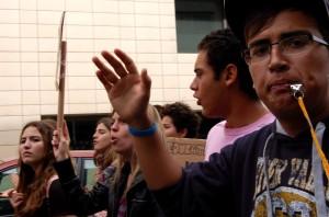 manifestación de estudiantes contra la  LOMCE de Wert. Santa Cruz de Tenerife