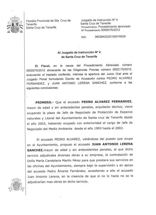 acusación Fiscalía caso Lerena 1