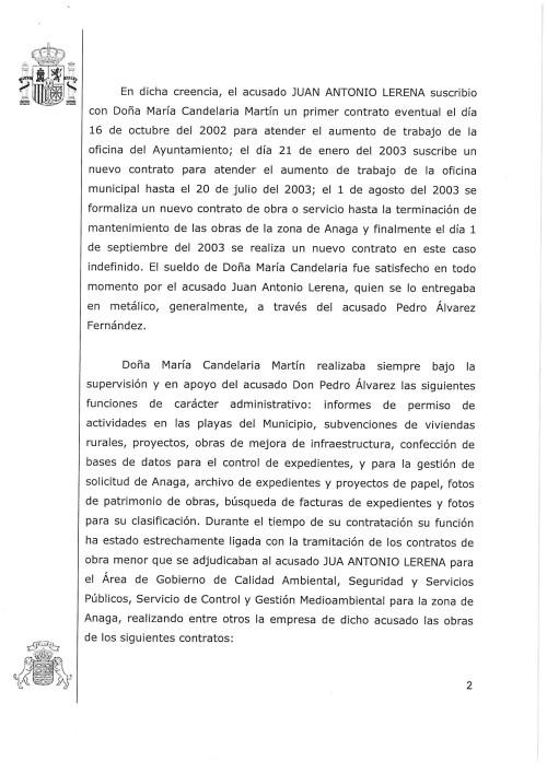Acusación Físcalía 2. Caso Lerena. Santa Cruz de Tenerife