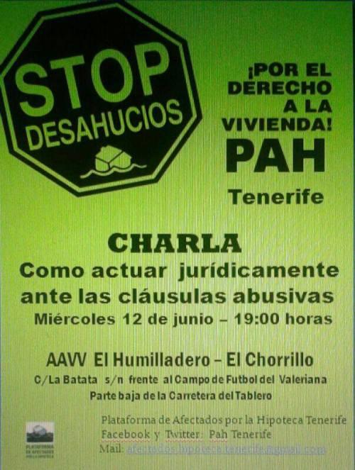 Cláusulas abusivas. Charla PAH-Tenerife